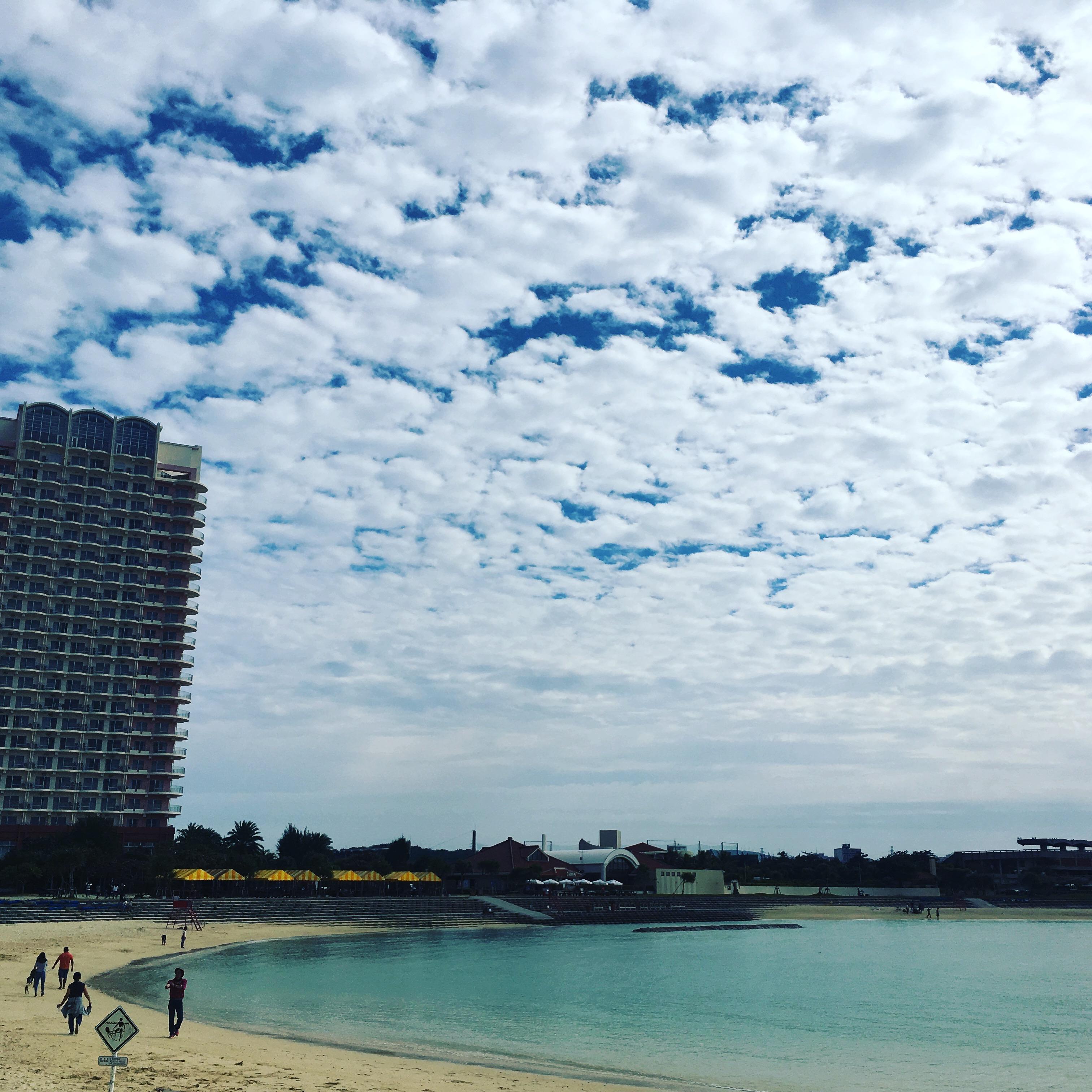 Beach running in Okinawa